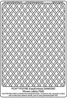 PCA Embossing Parchment Templates TP3276E - TP3300E
