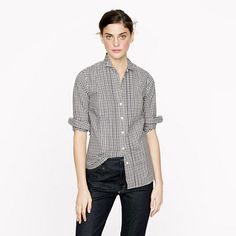 Thomas Mason tuxedo shirt in gingham on shopstyle.com
