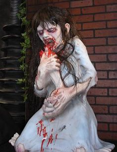 Dead Debbie Zombie figure haunted quality wide range of Halloween figures and horror decoration for horror fans!