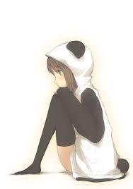 Resultado de imagen para chicas de anime disfrazadas de pandas kawaii