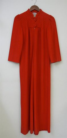 Vintage Robe 70s Red Holiday Warm Winter by PinkCheetahVintage, $16.00