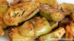 Simply Sauteed Baby Artichokes With Lemon & Garlic - Clean & Delicious with Dani Spies Veggie Recipes, Healthy Recipes, Healthy Eats, A Food, Food And Drink, Clean And Delicious, Vegetable Sides, Clean Eating Recipes, Food Print