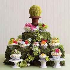 Mossy Cupcake tower