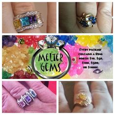 fantastic opportunity  - each bag of melter gems, that can be used in any candle warmer, actually comes with a RING, you pick size. Retail value of ring anywhere from 10 - 1000 dollars.  Check it out : www.soylicious.com/randyball