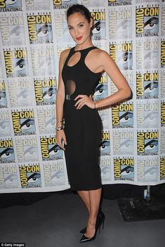 Leading the pack: Gal Gadot attended the Women Who Kick A** panel at Comic-Con on Saturday night in San Diego, California