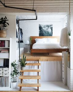 """Smart way of using the limited space. "" #livingonsmallspace #bedroom #schlafzimmer #bett #bed"