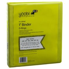 1 Inch Binder with D-Rings - Green by Yoobi