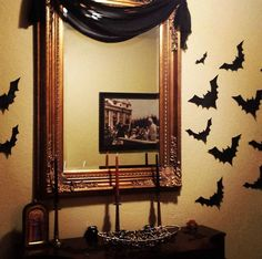 I've got my newly made #bats up in the foyer! Slow but steady, I'll be ready for #Halloween!! #HappyHalloween #HappySamhain everyone!  XoJo.  Just another #novelist #screenwriter #singer #songwriter #songstress #poet #pianist trying to make a beautiful life happen everyday  #lovemusic #musicians #musicianslife #piano #songs #inspired #goddesses #welcome #ewf #earswithfeet #toriamos #FionaApple #singer #wicca #wiccan #witchesofinstagram #samhain #steampunk #goth