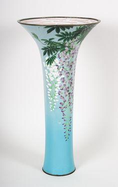 Japanese cloisonne enamel trumpet vase - by Alex Cooper Auctioneers