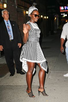Lupita Nyong'o at The Late Show with Stephen Colbert, September 28, 2016