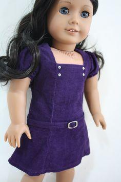 Purple corduroy dress by Pippaloo