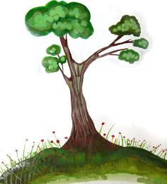 Рисуем просто -Дерево - Ярмарка Мастеров - ручная работа, handmade