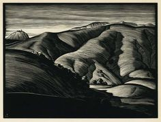 Paul Landacre  (American, 1893-1963). Point Sur, from California Hills and Other Wood Engravings. 1931.