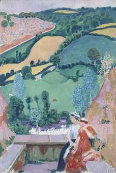 Maurice Denis - 1913. Maurice Denis was a French painter and writer, and a member of the Symbolist and Les Nabis movements. His theories contributed to the foundations of cubism, fauvism, and abstract art. Here can see beginning of cubism in approach.