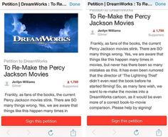 Petition to do a very much needed Percy Jackson movie remake!!! Click on the picture so it can take you to the page to sign!
