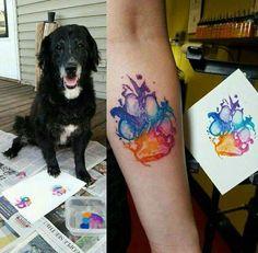 Post with 0 votes and 169283 views. Dog paw print art is great fun Diy Tattoo, Get A Tattoo, Tattoo Cat, Tattoo Animal, Tattoo Fonts, Tattoo Small, Pet Tattoo Ideas, Tattoo For Dog, Corgi Tattoo