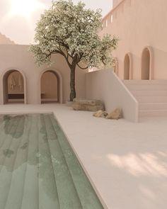 "Chloé on Twitter: ""3Dデザイナー Jo-Anie Charland 様の作品たち 見てるだけで心落ち着く穏やかな空間… "" Dream Home Design, My Dream Home, House Design, Exterior Design, Interior And Exterior, Aesthetic Rooms, Beige Aesthetic, House Goals, Future House"