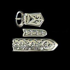 Hungarian hammered Magyar Belt fittings