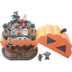 HALLOWEEN HOUSE,Toys,Paper Craft,Halloween,party,witch,house,ghost,pumpkin,Monster ,Pumpkin ,ghost,black cat