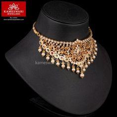 KJ Support Bot says… Gold Jewellery Design, Bead Jewellery, Gold Jewelry, Gold Necklace, Trendy Jewelry, Fashion Jewelry, Diamond Choker, Necklace Online, Jewelry Patterns