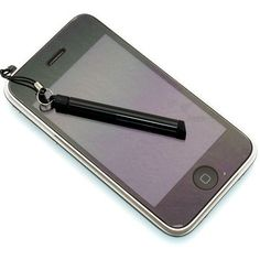 Ihopfällbar stylus-penna + Dammskydd (Svart)