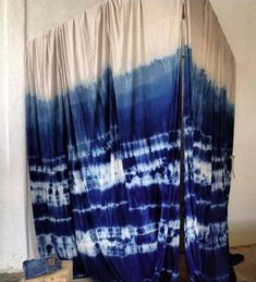 Hand dyed curtain perfection.    http://lookoutandwonderland.com/