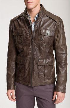 901b159d78a50 Jacket Orange Leather Jacket