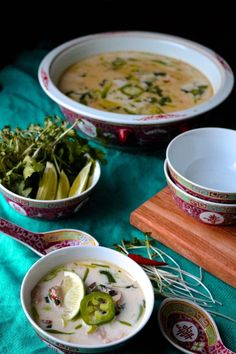 This amazing version of tom kha gai has perfectly balanced flavours of sweet, spicy and sour. I'm obsessed with this soup!