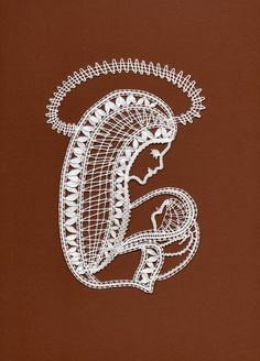 Subido por ... RODRIMAN ..... LRM Filet Crochet, Irish Crochet, Madonna, Lace Art, Bobbin Lace Patterns, Pintura Country, Lacemaking, Lace Jewelry, String Art