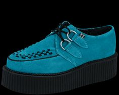 Turquoise Suede Mondo Creepers