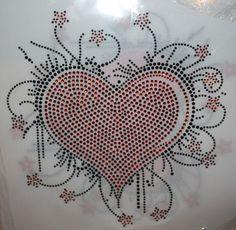 Rhinestone Valentine Heart Transfer DIY by FabulousTees on Etsy, $13.00 Valentine Heart, Valentines Day, Rhinestone Art, Diamond Art, Peace And Love, Crystal, Patterns, Unique Jewelry, Hot