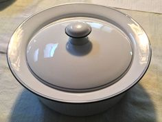 Dansk Bistro Christianshavn White /Blue 2 Qt Casserole with Lid Made in Portugal | Pottery & Glass, Pottery & China, China & Dinnerware | eBay!