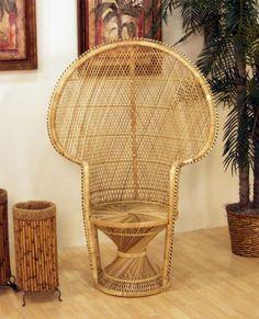 Cane Queen Fan Back Chair : Buri by Hospitality Rattan : americanrattan.com