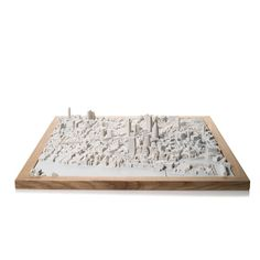 London Cityscape Magnetic. Product Shot Front View. Architectural Sculpture by Chisel & Mouse