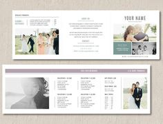 Pricing Templates for Photographers - Photographer Pricing Guide Template Trifold - Wedding Welcome Packet - Digital Price List. Bridal Guide Template For Photographers Wedding Photography Pricing, Photography Marketing, Photography Brochure, Photography Business, Photography Templates, Wedding Welcome, Modern Photographers, Portrait Photographers, Wedding Cake