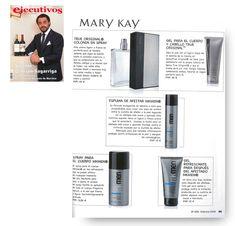 Revista Ejecutivos febrero 2016. Algunos productos de la línea MKMen.  #MaryKay #MaryKayEspaña #MKMen #Belleza #Hombre