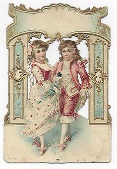 Glanzbilder - Victorian Die Cut - Victorian Scrap - Tube Victorienne - Glansbilleder - Plaatjes : Paare - couples - en couple
