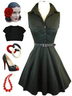 currently in stock at www.lebombshop.net  pinup, rockabilly, sun dress, vlv, polka dots