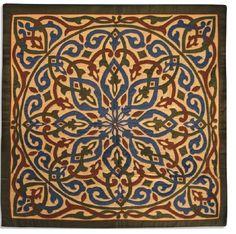 Khayameya: Arabic wall hanging  110 * 110 cm - cotton face, linen back