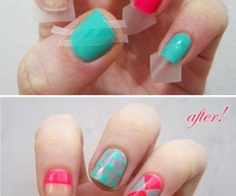 Another innovative idea for nail polish designs