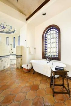 San Felipe shaped terra cotta tile used in this Riviera Pattern. Found on phone App Houzz