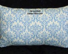 Decorative Throw Pillow, Lumbar Pillow, Accent Pillow - 18x12 Inch Lumbar, Blue and White