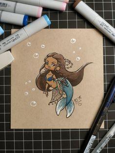 Day 4: Little Mermaid #Inktober #Copic #brushpens