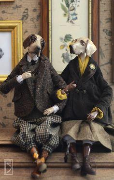 Купить Туманный Альбион - собаки, пара, англия, твид, ковчег, Великобритания, английский стиль, поинтер