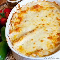 Chicken Enchiladas with White Sauce Recipe - ZipList