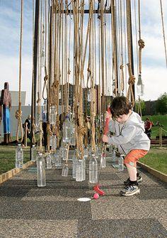 Minnesota's Walker Art Center Artist-Designed Mini Golf: Hanging Bottles Hole