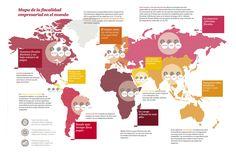 Mapa de fiscalidad para empresas en el Mundo #infografia #infographic