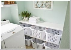 Laundry room sorting station. Yes please.