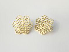 Flower earrings. IceCrystal set