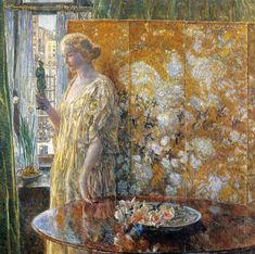 Tanagr The Builders New York | Frederick Childe Hassam | oil painting